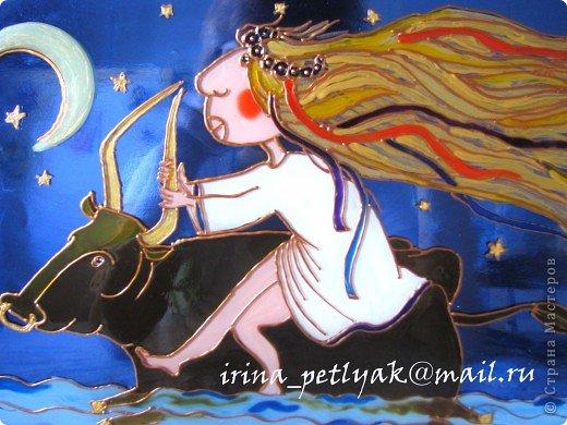 Продолжаю рисовать витражи http://stranamasterov.ru/node/228265, и снова вдохновляла Вита Процив. фото 2