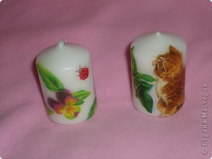 Свечи с летними мотивами фото 4