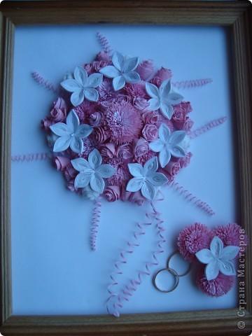 Букет невесты с бутоньеркой фото 1