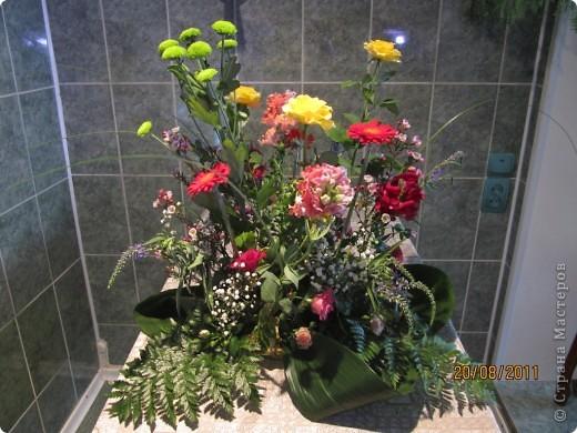 Мой первый в жизни букет из живых цветов. На День Рождение мамы моего знакомого.  фото 1