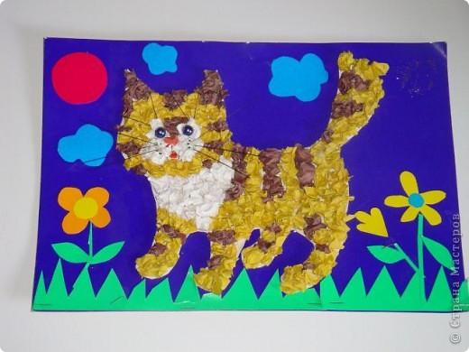 Вот такого котика, я с дочкой делали на выставку в дет. сад.