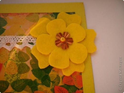 Это моя 3 открытка по скетчу. Здесь яблочко не золотое, а ... фото 3
