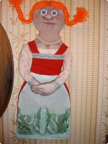 Как-то увидела в Стране Мастеров куклу-кармашек.И решила сшить такую-же .Получилась вот такая красотка. )))))))) фото 2
