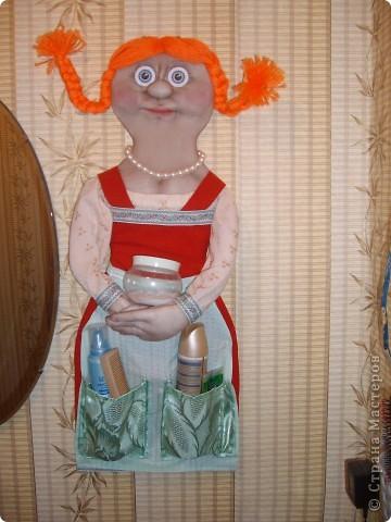 Как-то увидела в Стране Мастеров куклу-кармашек.И решила сшить такую-же .Получилась вот такая красотка. )))))))) фото 3