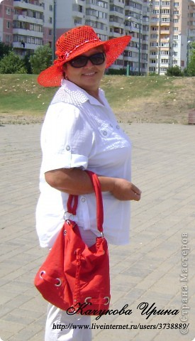 """Летняя воздушная шляпа """"МАК"""" фото 4"""