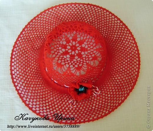 Гардероб Вязание крючком Шляпа МАК Пряжа фото 1