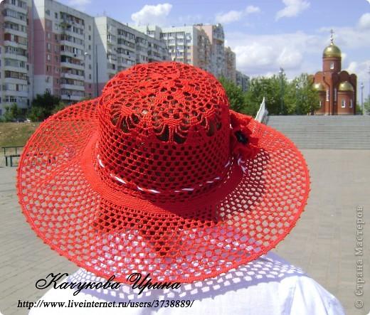 """Летняя воздушная шляпа """"МАК"""" фото 5"""