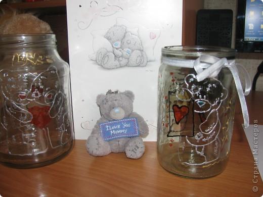 Такой подарок я сделала для своих родственников! думаю, что вы поймете как сделать такую красивую баночку в стиле Teddy bear. фото 2