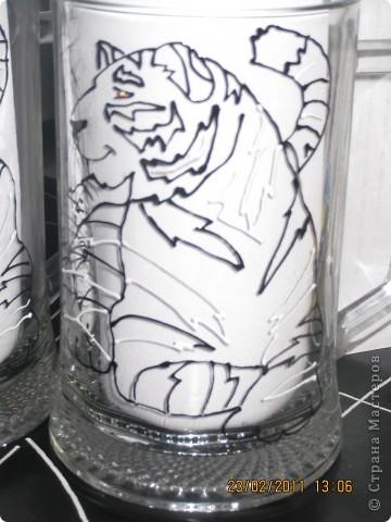 Мои первые попытки росписи по стеклу контурами фото 7