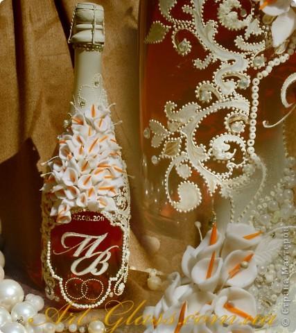 "Свадебная бутылка ""Кружева"" фото 1"