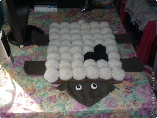 Вот наконец-то выкладываю свой коврик. Делала его для племянника Ванечки (1 год 9 месяцев), ребенок был очень рад. фото 1
