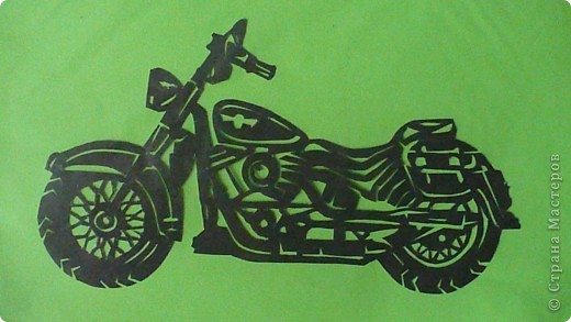 Поделки для мальчиков 23 февраля Вырезание Техника Мотоциклы Бумага фото 1