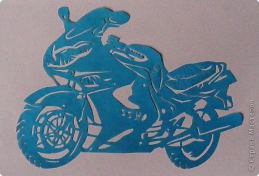 Поделки для мальчиков 23 февраля Вырезание Техника Мотоциклы Бумага фото 2