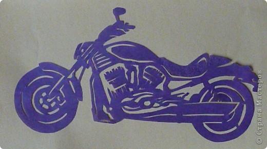 Поделки для мальчиков 23 февраля Вырезание Техника Мотоциклы Бумага фото 5