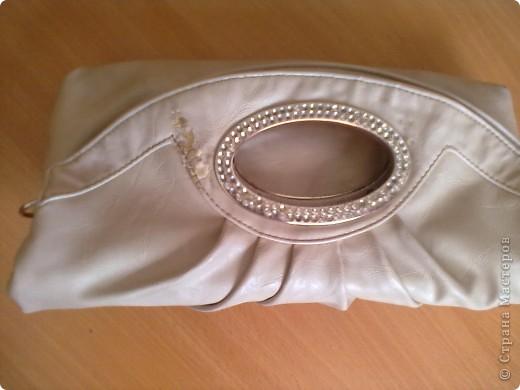Вот такая у меня есть сумочка. на которую я решила сделать розочку. фото 2