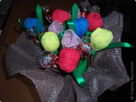 Это мой первый конфетный букет