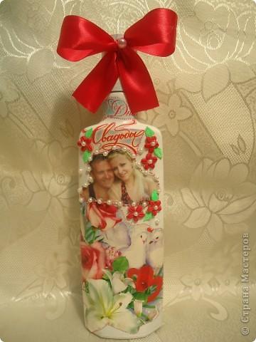 Здравствуйте жители СМ!!!!!! Вот такую бутылочку заказали в подарок молодоженам. фото 1
