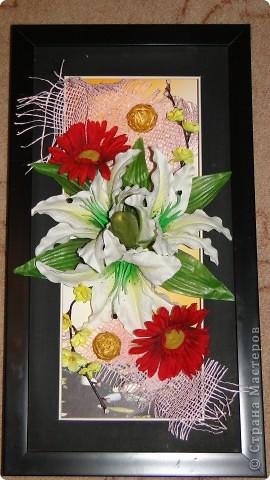 Картина из цветов фото 1