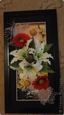 Картина из цветов фото 2