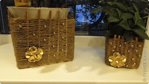 Коробки под горшки с цветами фото 1