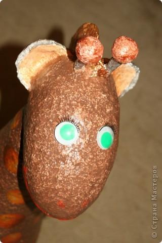 Воспользовалась идеей Татьяны Сысоевой http://stranamasterov.ru/node/162233?c=favorite и слепила  улыбчивого жирафа.   фото 4