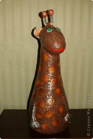 Воспользовалась идеей Татьяны Сысоевой http://stranamasterov.ru/node/162233?c=favorite и слепила  улыбчивого жирафа.   фото 3