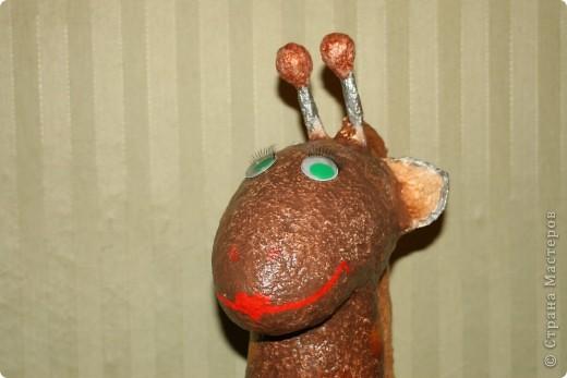 Воспользовалась идеей Татьяны Сысоевой http://stranamasterov.ru/node/162233?c=favorite и слепила  улыбчивого жирафа.   фото 2