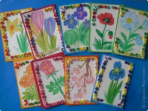 Давненько представила анонс этой серии, но выставляю только сейчас. Карточек как было 9, так и осталось. Больше что-то не нарисовались. Должна Марине(ШМыГа) Итак цветы, нарисованные акварельными карандашами. фото 1