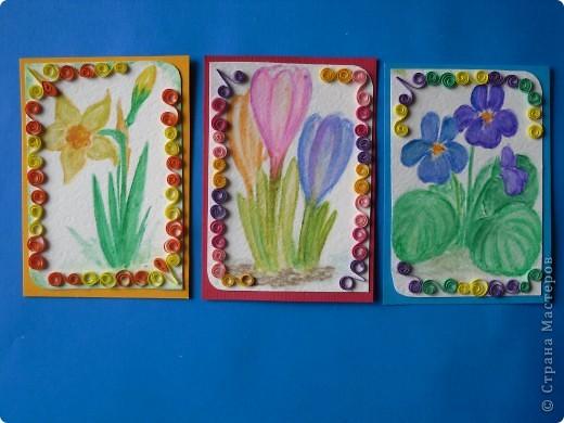 Давненько представила анонс этой серии, но выставляю только сейчас. Карточек как было 9, так и осталось. Больше что-то не нарисовались. Должна Марине(ШМыГа) Итак цветы, нарисованные акварельными карандашами. фото 2