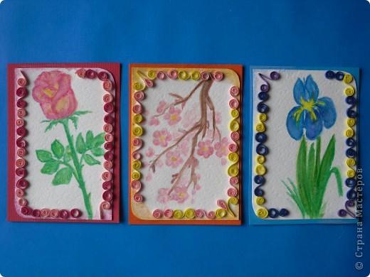 Давненько представила анонс этой серии, но выставляю только сейчас. Карточек как было 9, так и осталось. Больше что-то не нарисовались. Должна Марине(ШМыГа) Итак цветы, нарисованные акварельными карандашами. фото 4