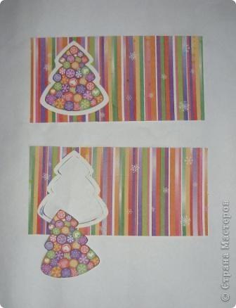 Разрежьте салфетку пополам, отделите белые слои и приклейте на альбомный лист. фото 2