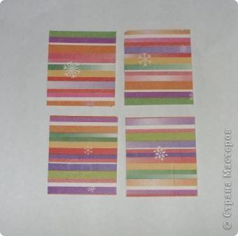 Разрежьте салфетку пополам, отделите белые слои и приклейте на альбомный лист. фото 7