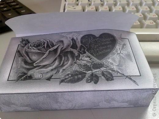 вот такую мини открыточку я сделала на работе для любимого(размер 6*12см) фото 2
