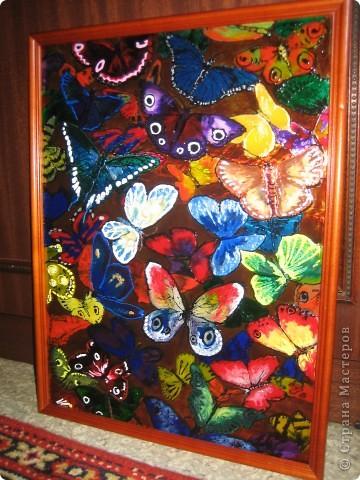 Витражные бабочки)))
