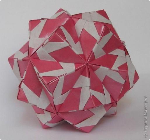"""Привет всем! Поздравляю всех с днем шахтера! Я сама живу в шахтерском поселке и многие из родни у меня шахтеры. В общем я по-быстренькому, скоро стемнеет - побегу на салют.   Sonobe var. by Mette Peterson Схема в книге М. Петерсона """"Origami club 1"""", c. 32 фото 2"""