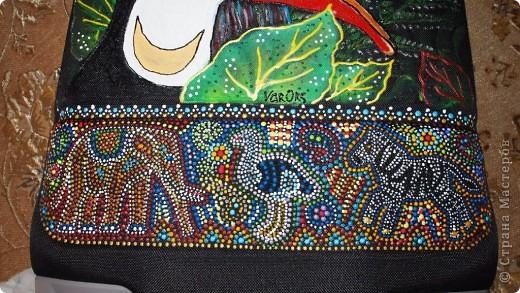 """Роспись чемодана """"Африка"""" акрилом и контурами фото 9"""