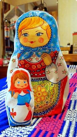 Декор предметов Роспись Шитьё Комплект сумок Матрешки Кожа Краска фото 1.