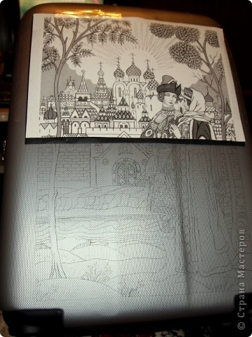 Переносим рисунок на поверхность с помощью копировальной бумаги. фото 1