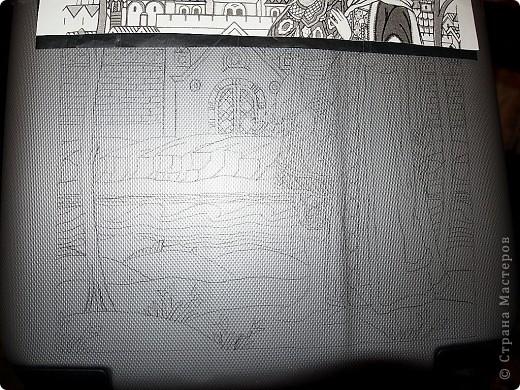 Переносим рисунок на поверхность с помощью копировальной бумаги. фото 2