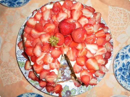 Клубничный торт фото 2