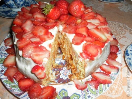 Клубничный торт фото 1