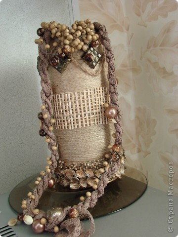 На вазе-бусы и браслет (все самодельное) для сарафана фото 1