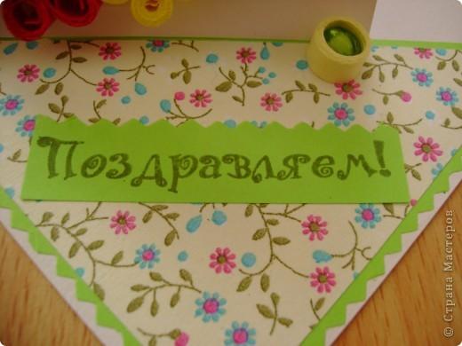Вот такая открыточка с веночком у нас получилась. Идея не наша, а Оли ya-yalo. Её работы все таки красивые. Спасибо ей за вдохновение.  фото 4