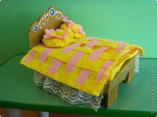 Кроватка для куклы (занятие по ИЗО) фото 5