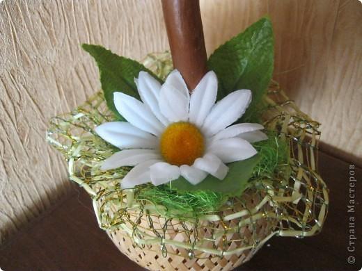 дерево из  искуственных цветов, спасибо Стране Мастеров за идеи. фото 5