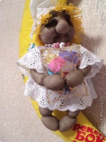 """А это сплюшечка для дочи. Зовут так же, как и салфетки, из которых месяц. Мне понравилось""""никаких домомучений"""" со снами. Подарила на день рождения моей красавице. фото 2"""