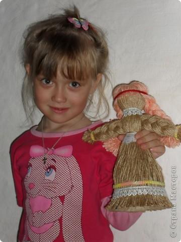 Эту куклу мы с дочкой делали на конкурс и заняли 2 место