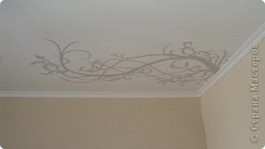 Когда задумывался проект, я не знала, что так будет тяжело рисовать на потолке. Да ещё и  с школьным опытом рисования. фото 1