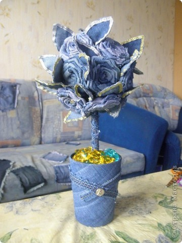 """После долгого простоя, мое новое дерево. Были джинсы мужа, стало """"Джинсовое чудо"""". фото 7"""