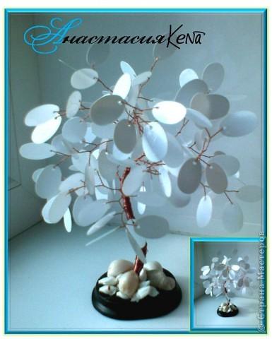 Дерево из белых пайеток (дерево, пайетки №2)